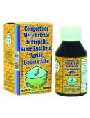 Composto de Mel e Extrato de Própolis, sabor Eucalipto, Agrião, Guaco e Alho 140g