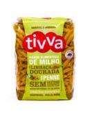 Macarrão Penne de milho c/ linhaça dourada 500g - Tivva
